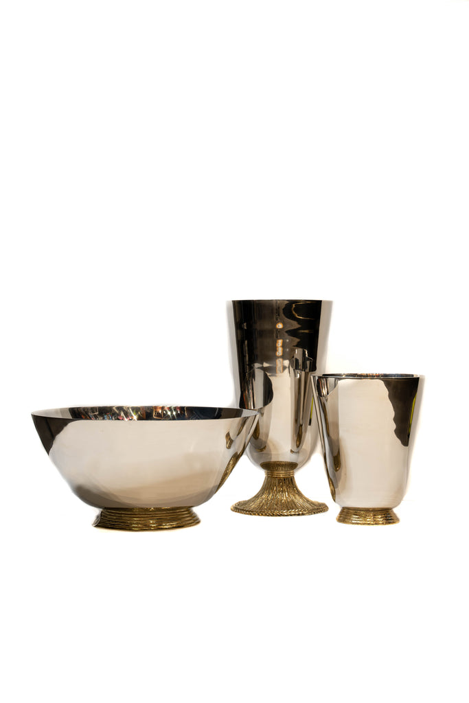 Set of 3 Michael Aram Bowls with Gilt Bases