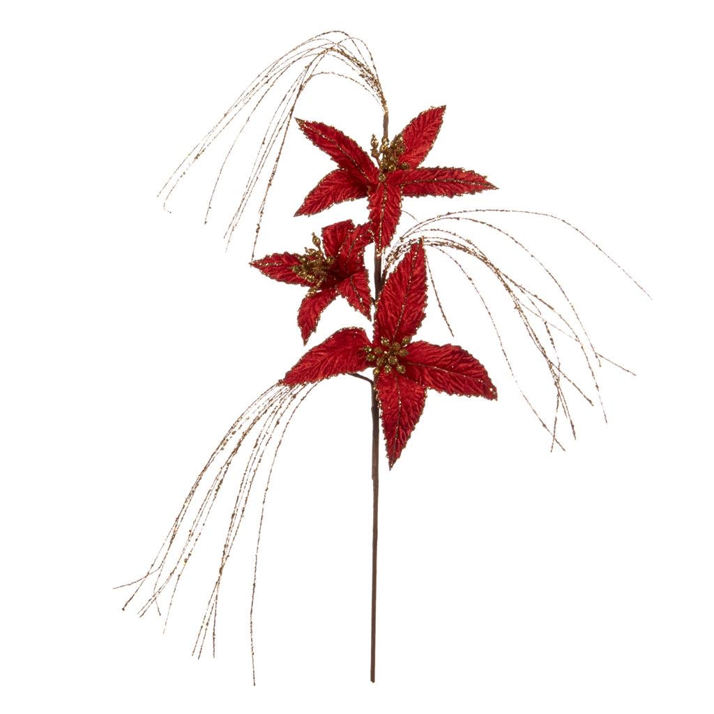 GLT NEEDLE/STARBURST FLOWER RED - J 63257