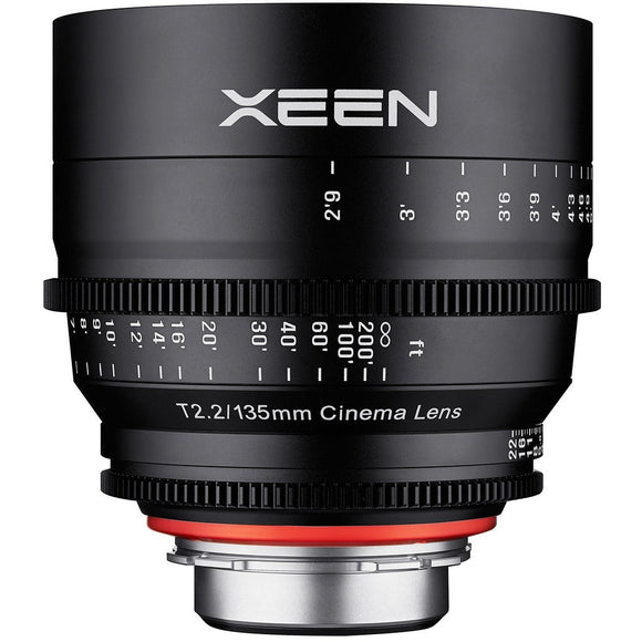 ROKINON XEEN PROFESSIONAL CINE LENS FULL FRAME 135 MM T2.2 - 3 YEAR WARRANTY