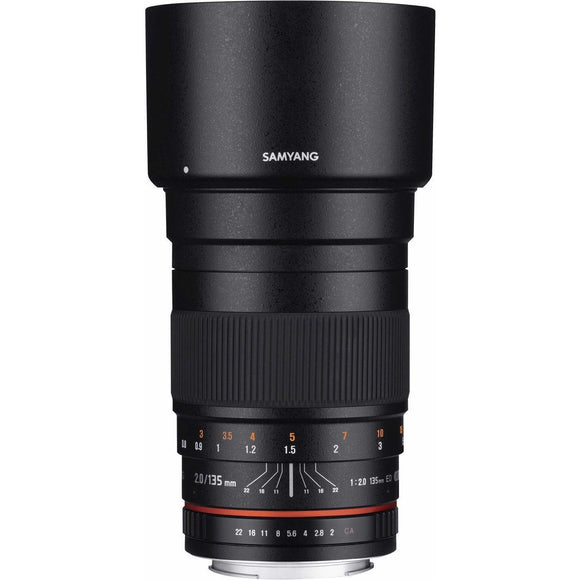 Samyang 135 mm f2 UMC II Manual Focus Lens
