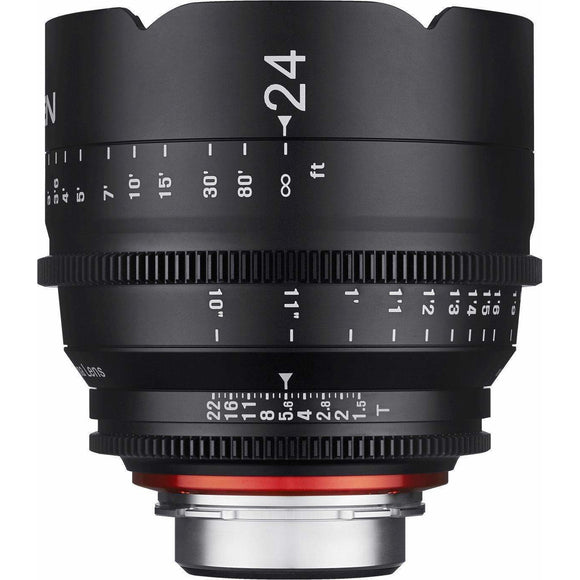 ROKINON XEEN PROFESSIONAL CINE LENS FULL FRAME 24 MM T1.5 - 3 YEAR WARRANTY