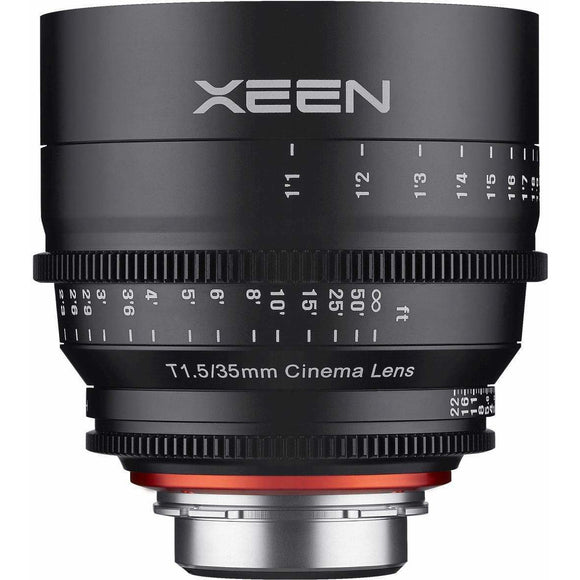 ROKINON XEEN PROFESSIONAL CINE LENS FULL FRAME 35 MM T1.5 - 3 YEAR WARRANTY