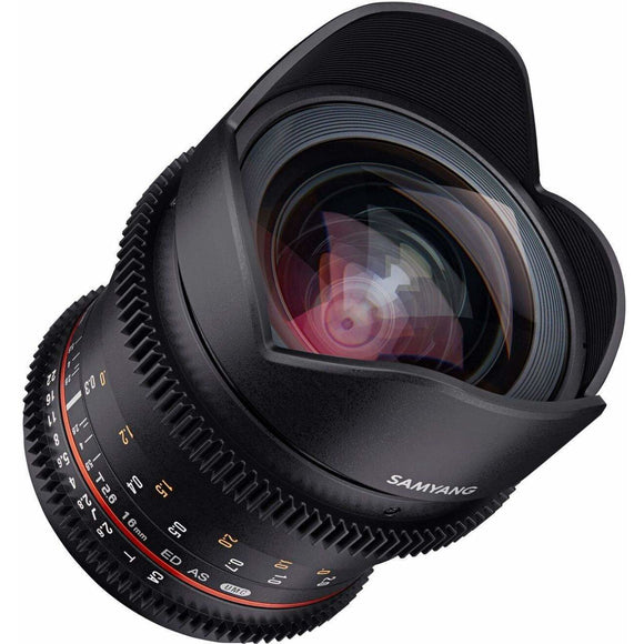 Samyang 16 mm T2.6 VDSLR UMC II Video Lens - Full Frame