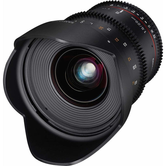 Samyang 20 mm T1.9 VDSLR UMC II Video Lens - Full Frame