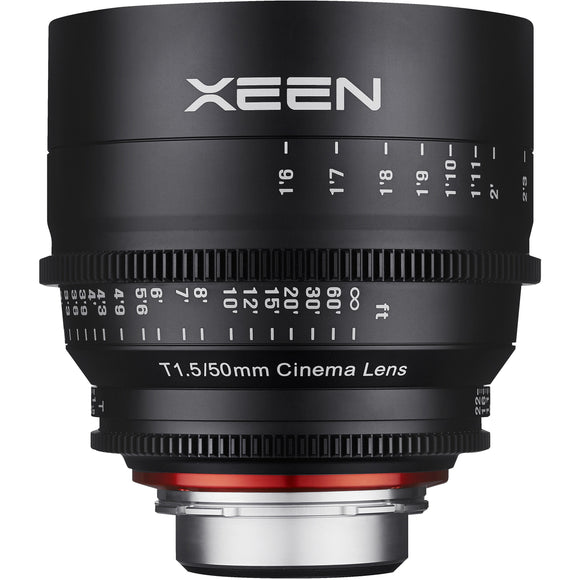 ROKINON XEEN PROFESSIONAL CINE LENS FULL FRAME 50 MM T1.5 - 3 YEAR WARRANTY