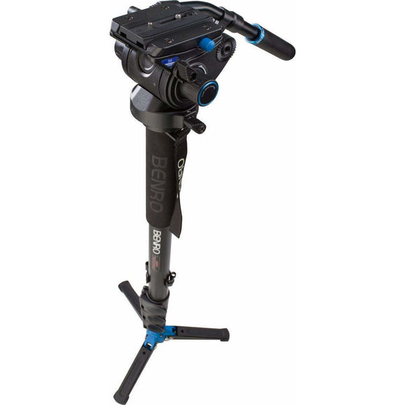 Benro Video Monopod with camera, retracted