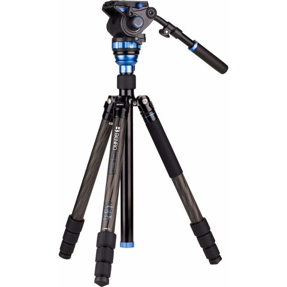 Benro C3883TS7 Aero7 Carbon Fibre Travel Angel Video Tripod Kit with S7 Head 7Kg Load