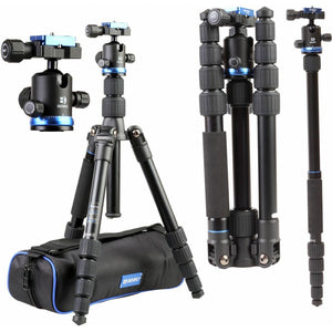 Benro iFoto Tripod Kit & Ball Head, Twist Lock, 5 Section, FIF19AIB0, 8 kg Load
