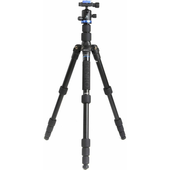 Benro iFoto Tripod Kit, CF, B0 Ball Head, Twist Lock, 5 Section, 8 kg Load - FIF19CIB0