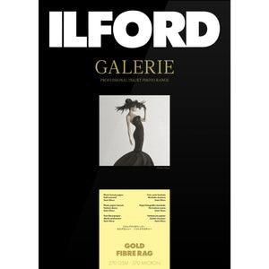 ILFORD Galerie Gold Fibre Rag Photo Paper 270gsm A3+ 25 Sheets