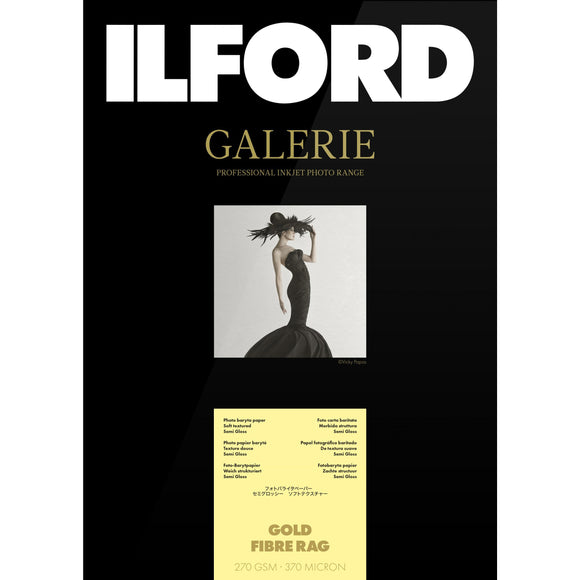 ILFORD Galerie Gold Fibre Rag Photo Paper 270gsm A4 25 Sheets