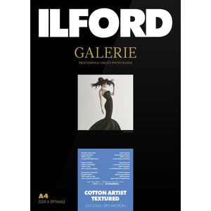 "Ilford Galerie Cotton Artist Textured Photo Paper 310GSM 5""x7"" 50 Sheets"