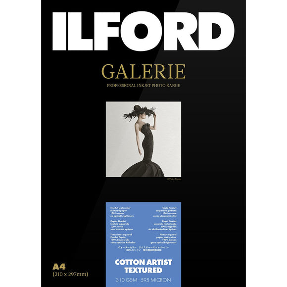 ILFORD Galerie Cotton Artist Textured Photo Paper 310GSM A2, 25 Sheets