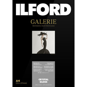 "ILFORD Galerie Crystal Gloss Photo Paper 290 GSM 5""x "" 50 Sheets"