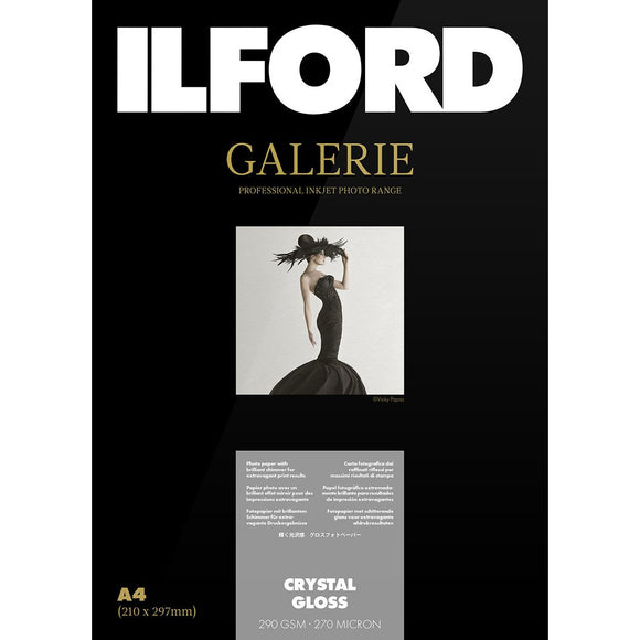 ILFORD Galerie Crystal Gloss Photo Paper 290 GSM A4 (21 cm x 29.7 cm)