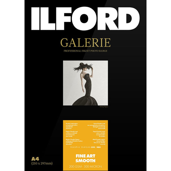 ILFORD Galeri Fine Art Smooth 200 gsm A2 Photo Paper 25 Sheets