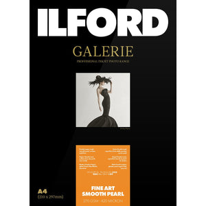 "ILFORD Galerie Fine Art Smooth Pearl Photo Paper 270 GSM 4""x6"" 50 Sheets"
