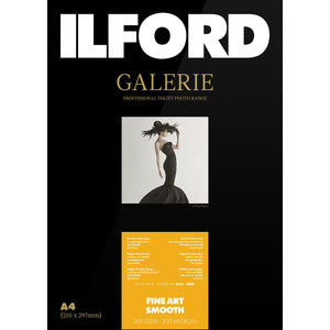 "ILFORD Galeri Fine Art Smooth 200 gsm 5""x7"" Photo Paper 50 Sheets"