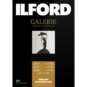 ILFORD Galerie Fineart Textured Silk Photo Paper 270 GSM A4 25 Sheets