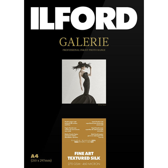 ILFORD Galerie Fine Art Textured Silk 270 GSM A3+ Photo Paper 25 Sheets
