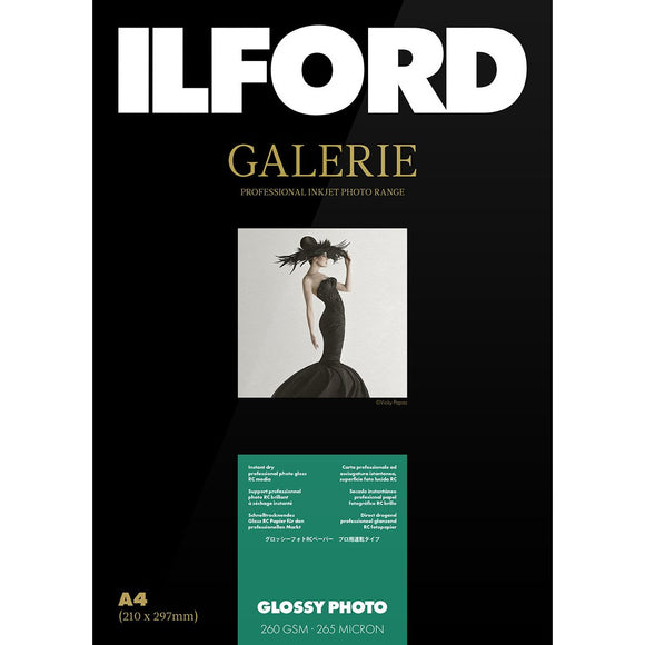 ILFORD Galeri Glossy Photo 260 gsm A3+ Photo Paper 25 Sheets