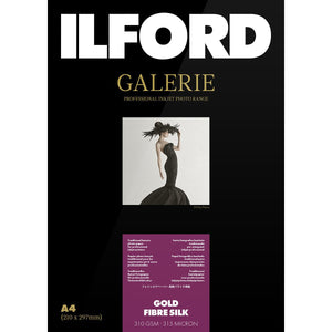 "ILFORD Galerie Gold Fibre Silk 310 GSM 5""x7"" Photo paper 50 Sheets"
