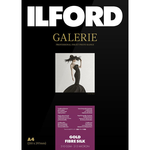 ILFORD Galerie Gold Fibre Silk Photo Paper 310 GSM 12 Metre Roll