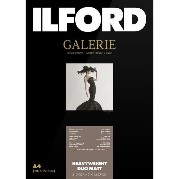ILFORD Galerie Heavyweight Duo Matt 310 GSM A2, Photo Paper 25 Sheets