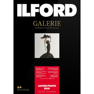 ILFORD Galerie Lustre Photo Duo 330 GSM A3 Photo Paper, 25 Sheets