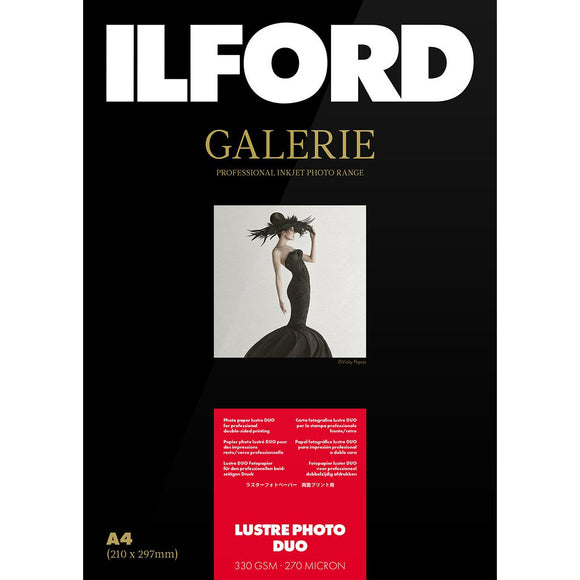 ILFORD Galerie Lustre Photo Duo 330 GSM A3+ Photo Paper