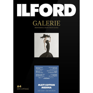 ILFORD Galerie Matt Cotton Medina Photo Paper 320 GSM A2 25 Sheets