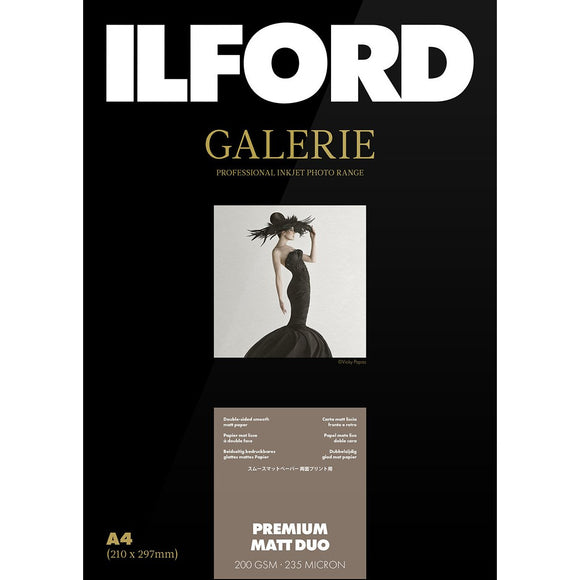 ILFORD Galeri Premium Duo Matt 200 gsm A4 Photo Paper 50 Sheets