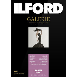 ILFORD Galerie Raster Silk 290 GSM A4 Photo Paper, 25 Sheets