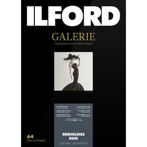 ILFORD Galerie Semigloss Duo 250 GSM A3+ Photo Paper, 25 Sheets