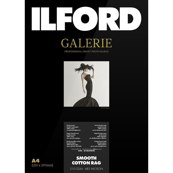 ILFORD Galerie Smooth Cotton Rag 310 GSM A4 Photo Paper 25 Sheets