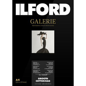 "ILFORD Galerie Smooth Cotton Rag 310 GSM Photo Paper 6""x4"" 25 Sheets"