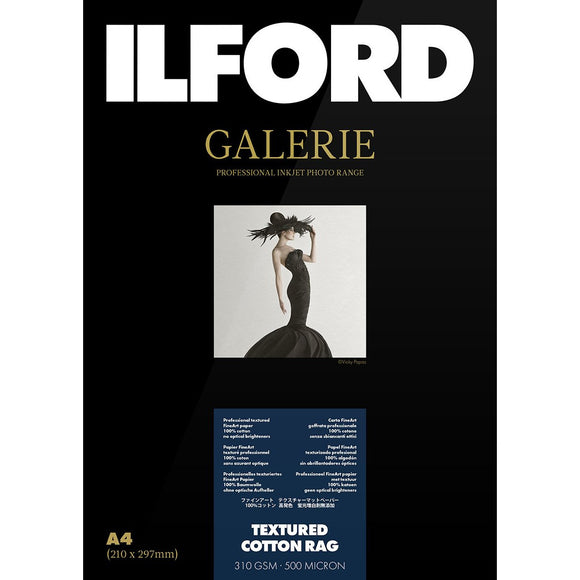 ILFORD Galeri Textured Cotton Rag Photo Paper 310gsm A4 25 Sheets