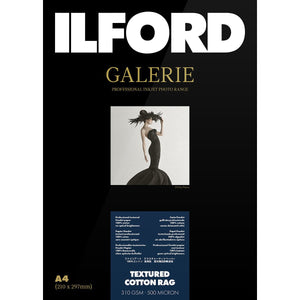 "ILFORD Galeri Textured Cotton Rag Photo Paper 310gsm 4""x6"" 50 Sheets"