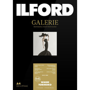ILFORD Galerie Washi Torinoko 110 GSM A3 Photo Paper, 25 Sheets