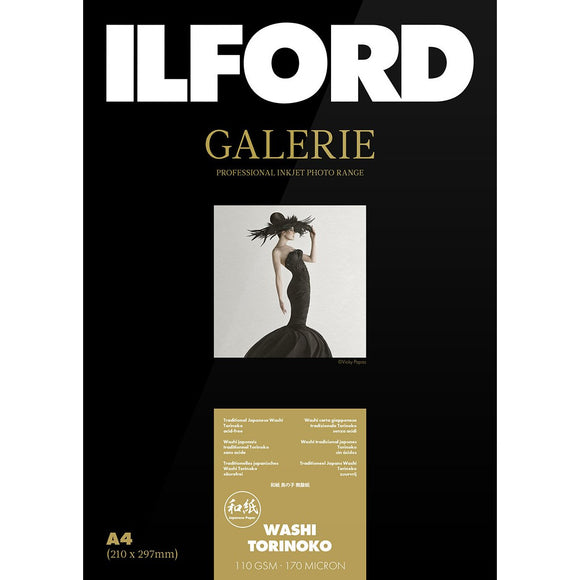ILFORD Galerie Washi Torinoko 110 GSM Photo Paper A3+ 25 Sheets