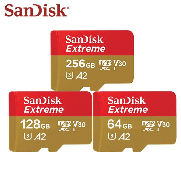 Sandisk Extreme microSD UHS-I Micro SD Card For Action Cameras or Drones, 160 MB/s