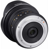 Samyang 8 mm T3.8 Fisheye VDSLR UMC II Video Lens - APS-C