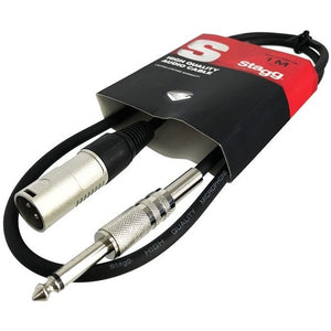 Stagg SAC1PXM DL 1 m S Series Deluxe Stereo Jack Male XLR Cable