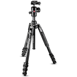 Manfrotto Befree Advanced Aluminum Travel Tripod lever, ball head MKBFRLA4BK-BH