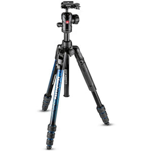 Manfrotto Befree Advanced Aluminum Travel Tripod twist blue, ball head