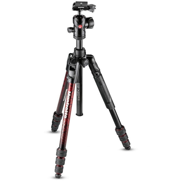 Manfrotto Befree Advanced Aluminum Travel Tripod twist red, ball head