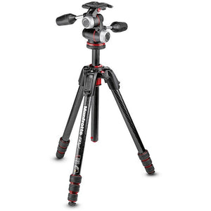 Manfrotto 190go! MS Carbon Tripod kit 4-Section with XPRO 3-way head