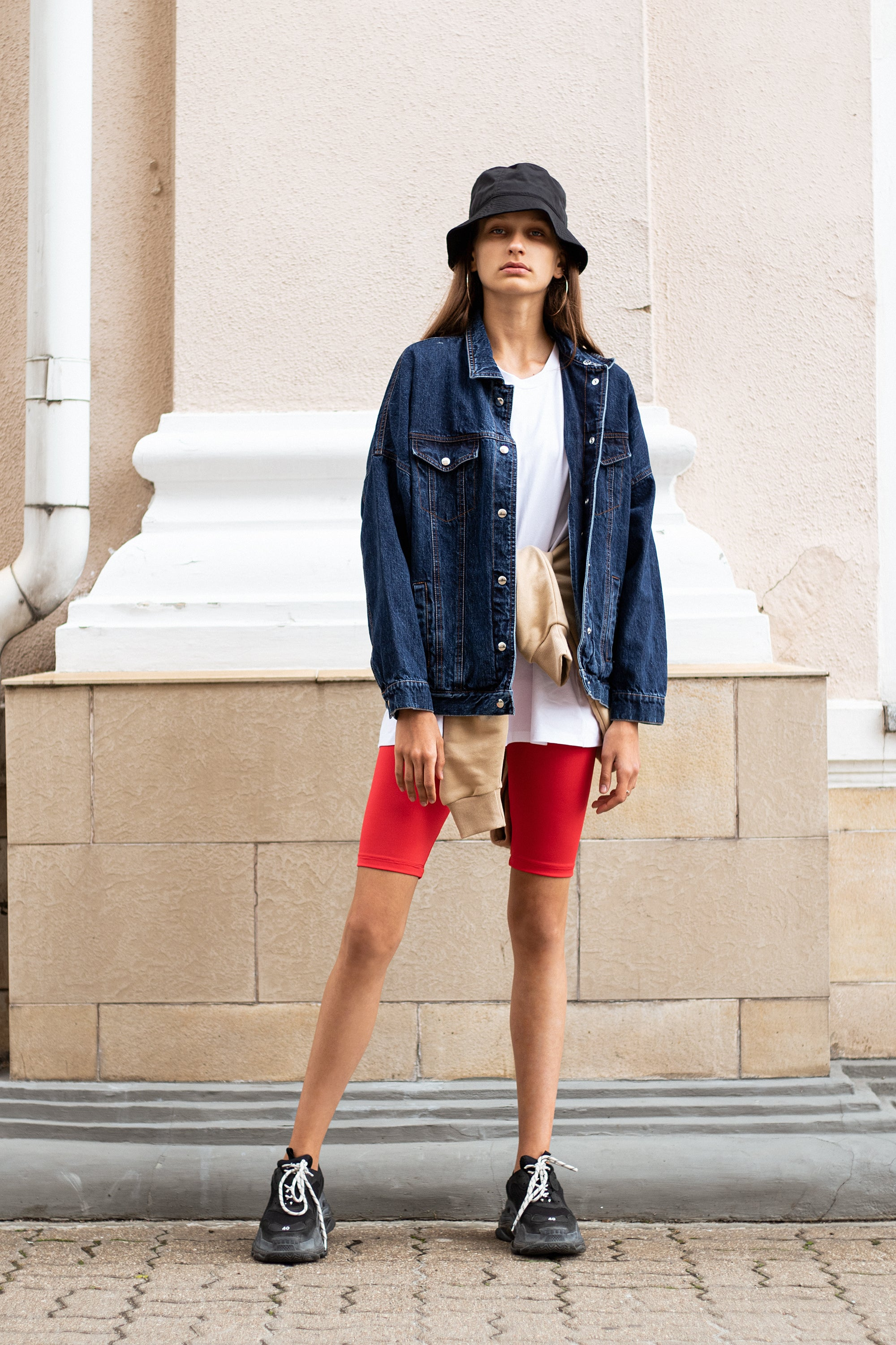 dark-denim-genes2-jacket-le-slap-logo-tshirt-nude-hoodie-scarlet-red-biker-shorts.jpg