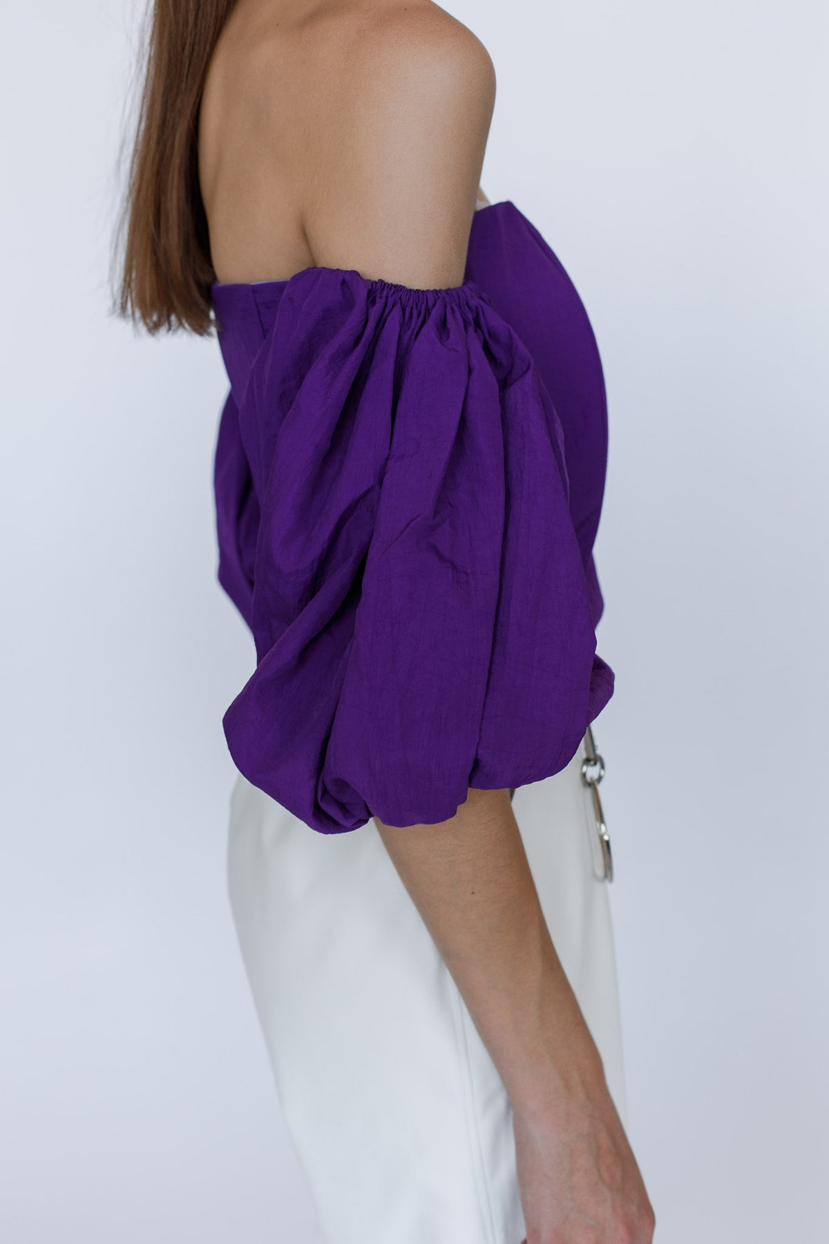 FRIDA | Violet volume sleeve top