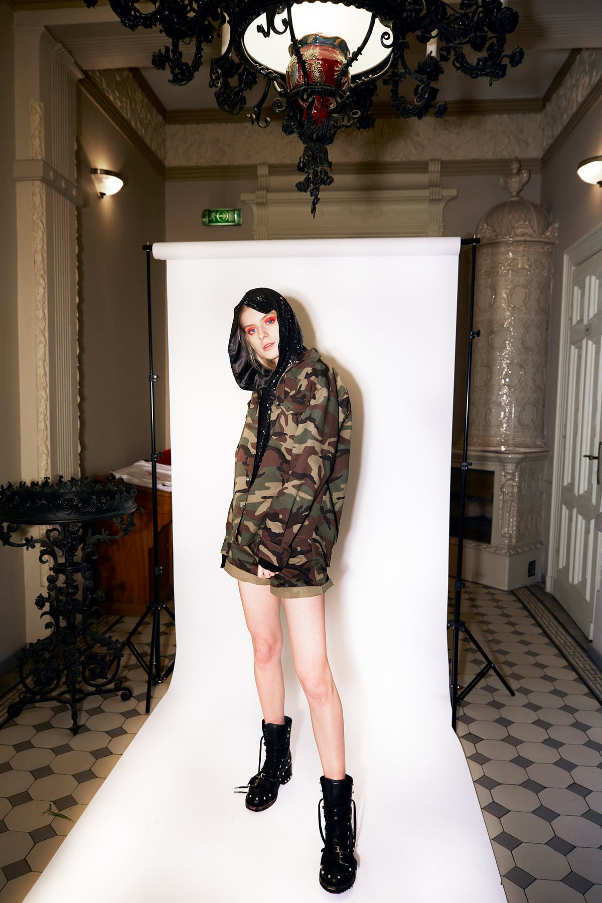 CAMO SERIES | Camouflage snap button jacket
